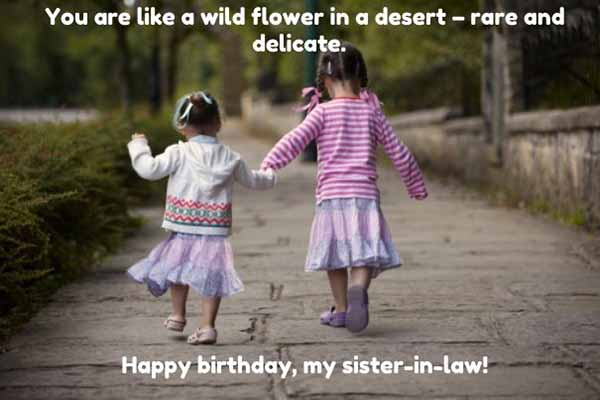 happy birthday sister in law meme with flowers