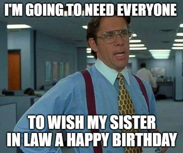 happy birthday sister in law the office meme