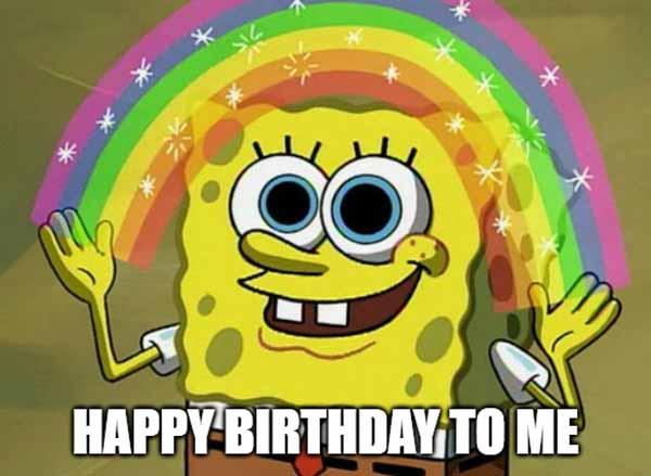 happy birthday to me rainbow meme
