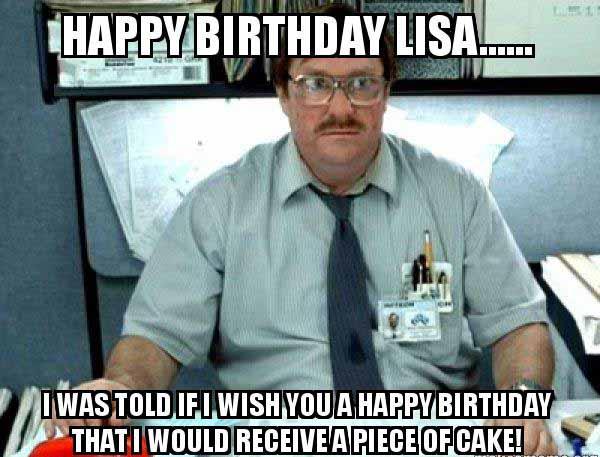lisa happy birthday meme