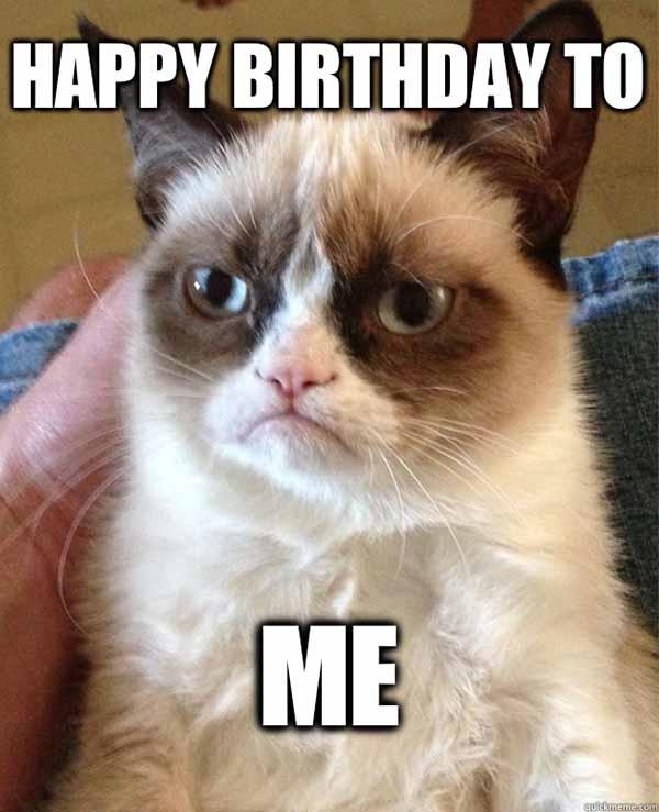meme cat happy birthday to me
