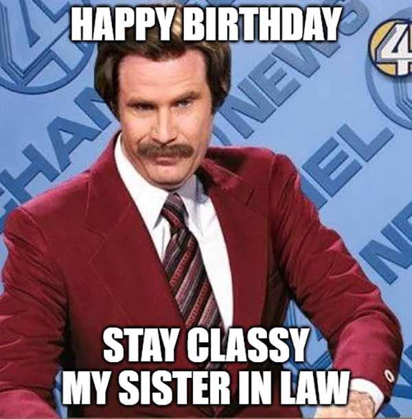 sister in law happy birthday meme